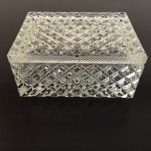 Cut Glass Rectangular Box with Lid